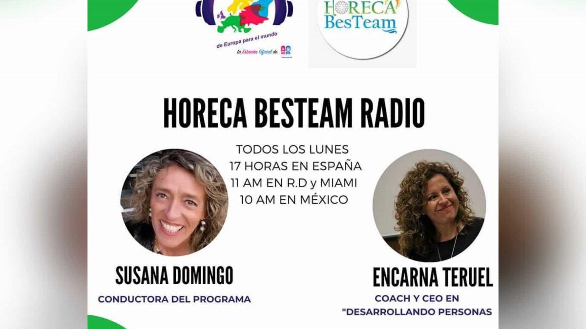 Participamos en Horeca BesTeam Radio, con Susana Domingo.